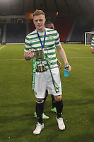 Denny Johnstone after winning the Dunfermline Athletic v Celtic Scottish Football Association Youth Cup Final match played at Hampden Park, Glasgow on 1.5.13.