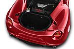 Car Stock 2017 Alfaromeo 4C - 2 Door Coupe Engine  high angle detail view