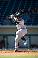 Scottsdale Scorpions Gleyber Torres (17), of the New York Yankees organization, during a game against the Mesa Solar Sox on October 18, 2016 at Sloan Park in Mesa, Arizona.  Mesa defeated Scottsdale 6-3.  (Mike Janes/Four Seam Images)