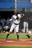 GCL Pirates Sammy Siani (5) at bat during a Gulf Coast League game against the GCL Rays on August 7, 2019 at Charlotte Sports Park in Port Charlotte, Florida.  GCL Rays defeated the GCL Pirates 4-1 in the first game of a doubleheader.  (Mike Janes/Four Seam Images)
