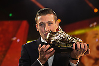 20190116 – PUURS ,  BELGIUM : Hans Vanaken pictured during the  65nd men edition of the Golden Shoe award ceremony and 3th Women's edition, Wednesday 16 January 2019, in Puurs Studio 100 Pop Up Studio. The Golden Shoe (Gouden Schoen / Soulier d'Or) is an award for the best soccer player of the Belgian Jupiler Pro League championship during the year 2018. The female edition is the thirth one in Belgium.  PHOTO DIRK VUYLSTEKE | Sportpix.be