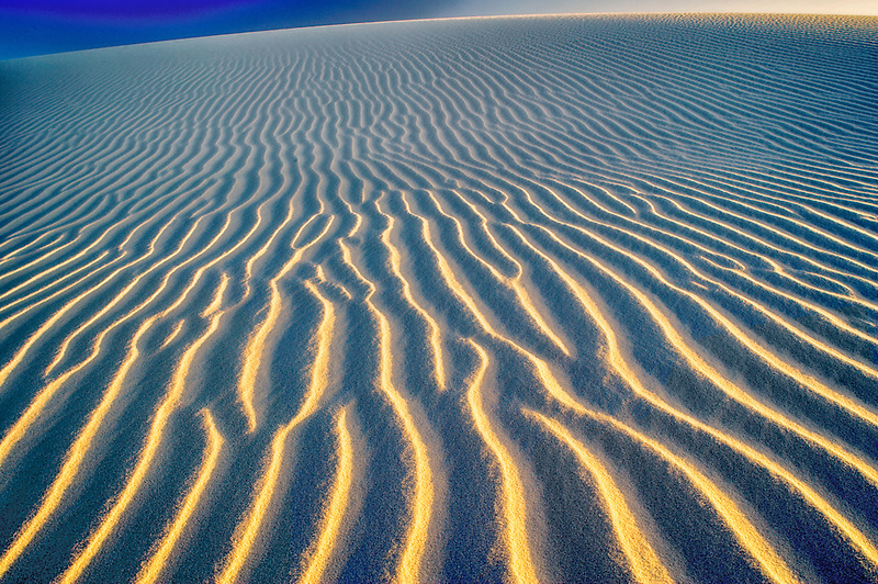 Ripples in sand dune. White Sands National Monument. New Mexico