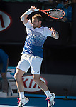 Stanislas Wawrinka (SUI) defeats Jarko Nieminen (FIN) 6-4, 6-2, 6-4 at the Australian Open being played at Melbourne Park in Melbourne, Australia on January 24, 2015