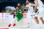 Real Madrid Rudy Fernandez and Kirolbet Baskonia Darrun Hilliard during Turkish Airlines Euroleague match between Real Madrid and Kirolbet Baskonia at Wizink Center in Madrid, Spain. October 19, 2018. (ALTERPHOTOS/Borja B.Hojas)