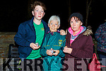 Joshua, Philomena and Sharon Roche attending the Open Arms Kerry candlelit vigil in Pearce Park Tralee to mark World Suicide Day on Monday night.