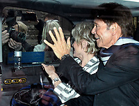 LONDON, ENGLAND - APRIL 13: Sir Cliff Richard and Gloria Hunniford at the Rolls Building, Royal Courts of Justice, where he is suing the BBC over coverage of a police raid on the singer's home, April 13th, 2018 in London, England.<br /> CAP/JOR<br /> &copy;JOR/Capital Pictures