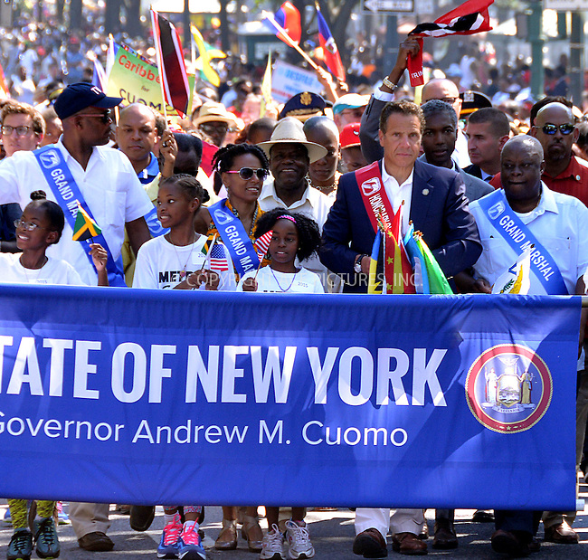WWW.ACEPIXS.COM<br /> <br /> September 7 2015, New York City<br /> <br /> New York Governor Andrew Cuomo attends the 2015 West Indian Day Parade on September 7 2015 in New York City<br /> <br /> <br /> By Line: Curtis Means/ACE Pictures<br /> <br /> <br /> ACE Pictures, Inc.<br /> tel: 646 769 0430<br /> Email: info@acepixs.com<br /> www.acepixs.com
