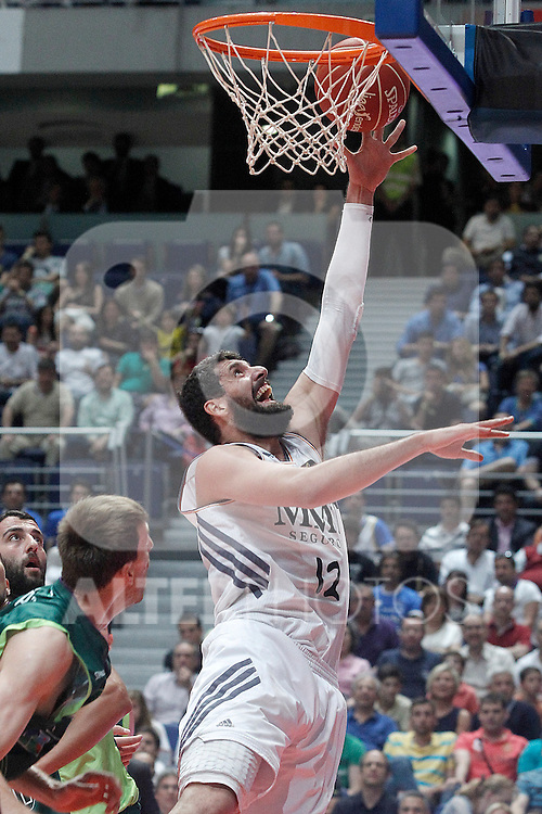 Real Madrid's Nikola Mirotic during Liga Endesa ACB Semifinal match.June 6,2014. (ALTERPHOTOS/Acero)