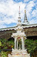 Thailand, Mae Hong Son. Wat Chong Klang Buddhist Monastery.