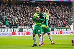 10.02.2019, Weserstadion, Bremen, GER, 1.FBL, Werder Bremen vs FC Augsburg<br /> <br /> DFL REGULATIONS PROHIBIT ANY USE OF PHOTOGRAPHS AS IMAGE SEQUENCES AND/OR QUASI-VIDEO.<br /> <br /> im Bild / picture shows<br /> Jubel 1:0, Milot Rashica (Werder Bremen #11) bejubelt seinen Treffer zum 1:0 mit geballten F&auml;usten,<br /> <br /> Foto &copy; nordphoto / Ewert