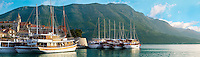 charter cruise boats in the harbour of Kor?ula town  [  Korcula ] Island Craotia