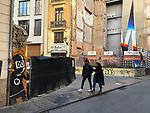 Valencia-Spain, January 10, 2018; <br /> street art / graffiti by i.a. David de Limón (Limon); <br /> Photo © HorstWagner.eu
