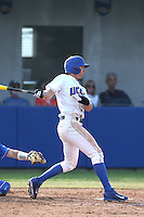 Andrew Calica (21) of the UC Santa Barbara Gauchos bats during a game against the Kentucky Wildcats at Caesar Uyesaka Stadium on March 20, 2015 in Santa Barbara, California. UC Santa Barbara defeated Kentucky, 10-3. (Larry Goren/Four Seam Images)