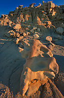 746000022 strange sandstone formations stand watch over the landscape in fantasy canyon a blm property in the middle of a working oil field in northeastern utah united states
