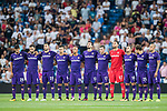 Players of ACF Fiorentina line up and pose for a photo prior to the Santiago Bernabeu Trophy 2017 match between Real Madrid and ACF Fiorentina at the Santiago Bernabeu Stadium on 23 August 2017 in Madrid, Spain. Photo by Diego Gonzalez / Power Sport Images