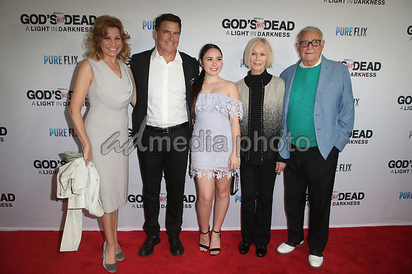 "20 March 2018 - Hollywood, California - Gigi Rice, Ted McGinley, Emily McGinley, Bob McGinley. ""God's Not Dead: A Light In Darkness"" Premiere held at American Cinematheque Egyptian Theatre. Photo Credit: F. Sadou/AdMedia"