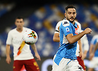 5th July 2020; Stadio San Paolo, Naples, Campania, Italy; Serie A Football, Napoli versus Roma; Konstantinos Manolas of Napoli as the ball gets loose