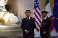(From L to R) Italian Prime Minister Giuseppe Conte & Admiral Sq. Carlo Massagli (Military Advisor of the Prime Minister and Head of the Secretariat Office).<br />