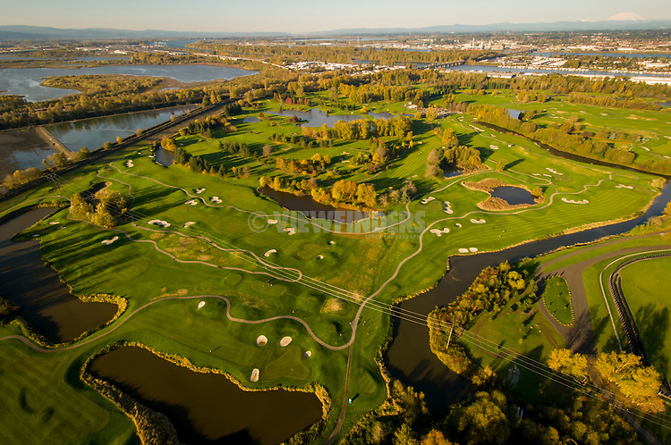 Aerial of Heron Lakes golf course.