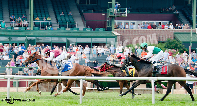 Bornean winning at Delaware Park on 7/20/13