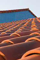 roof patterns in colorful La Placitas Village.