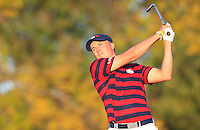 Jordan Spieth (Team USA) on the 17th tee during Saturday afternoon Fourball at the Ryder Cup, Hazeltine National Golf Club, Chaska, Minnesota, USA.  02/10/2016<br /> Picture: Golffile | Fran Caffrey<br /> <br /> <br /> All photo usage must carry mandatory copyright credit (&copy; Golffile | Fran Caffrey)