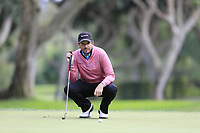 Thomas Aiken (RSA) on the 8th green during Friday's storm delayed Round 2 of the Andalucia Valderrama Masters 2018 hosted by the Sergio Foundation, held at Real Golf de Valderrama, Sotogrande, San Roque, Spain. 19th October 2018.<br /> Picture: Eoin Clarke | Golffile<br /> <br /> <br /> All photos usage must carry mandatory copyright credit (&copy; Golffile | Eoin Clarke)