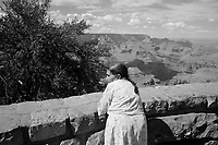 UNITED STATES / Arizona / July 2004..A Native American woman at the south rim of the Grand Canyon...© Davin Ellicson / Anzenberger