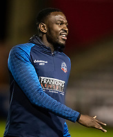 Bolton Wanderers' Toto Nsiala warming up before the match  <br /> <br /> Photographer Andrew Kearns/CameraSport<br /> <br /> The EFL Sky Bet League One - Lincoln City v Bolton Wanderers - Tuesday 14th January 2020  - LNER Stadium - Lincoln<br /> <br /> World Copyright © 2020 CameraSport. All rights reserved. 43 Linden Ave. Countesthorpe. Leicester. England. LE8 5PG - Tel: +44 (0) 116 277 4147 - admin@camerasport.com - www.camerasport.com