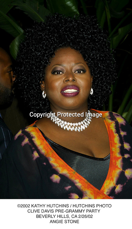 ©2002 KATHY HUTCHINS / HUTCHINS PHOTO.CLIVE DAVIS PRE-GRAMMY PARTY .BEVERLY HILLS, CA 2/26/02.ANGIE STONE