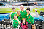 Jack, Darragh, Niamh, Pat, Isabell and Ruth O'Keeffe, Moyvane Kerry  fans at the All Ireland Senior Quarter Final at Croke Park on Sunday.