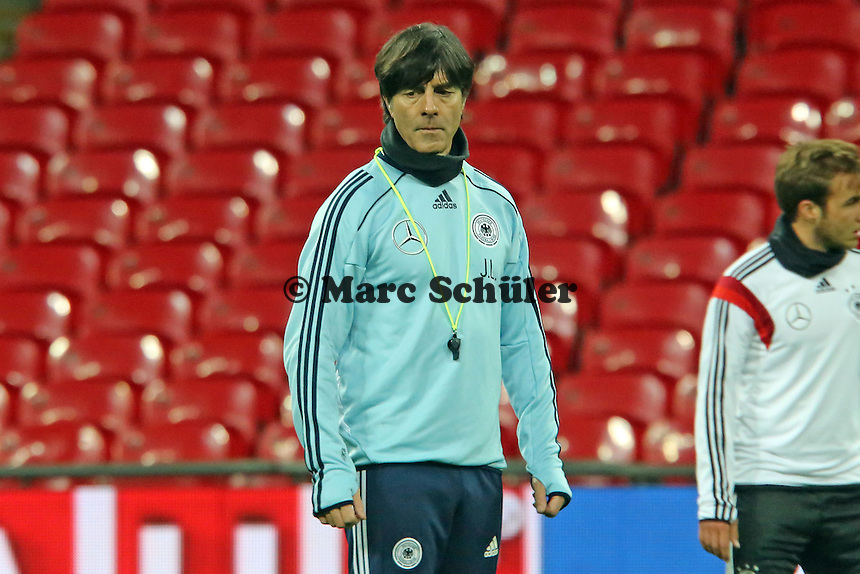 Bundestrainer Joachim Löw (D) - Abschlusstraining der Nationalmannschaft im Wembley Stadium