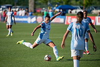 Kansas City, MO - Sunday May 07, 2017: Ali Krieger during a regular season National Women's Soccer League (NWSL) match between FC Kansas City and the Orlando Pride at Children's Mercy Victory Field.