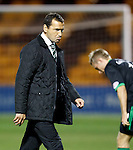Hibs manager Colin Calderwood looking stern