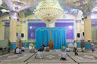 June 21, 2014 - Yazd (Iran). People pray in a mosque in the suburbs of Yazd. © Thomas Cristofoletti / Ruom