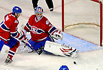 11 November 2008: Montreal Canadiens' goalie Carey Price makes a save in the first period against the Ottawa Senators at the Bell Centre, in Montreal, Quebec, Canada. The Canadiens shut out the Senators 4-0 as the Habs celebrate their 100th Season...Mandatory Photo Credit: Ed Wolfstein Photo *** Editorial Sales through Icon Sports Media *** www.iconsportsmedia.com