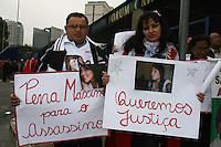 SAO PAULO, SP, 23 DE JUNHO DE 2013 -  CASO BIANCA CONSOLI. O motoboy Sandro Dota, de 42 anos, acusado de estuprar e matar a ex-cunhada, Bianca Consoli, quando ela tinha 19 anos, em 2011, começa a ser julgado nesta terça-feira (23), no Fórum Criminal Ministro Mário Guimarães – Barra Funda – zona oeste da Capital. Antonio Pontes – pai. FOTO: MAURICIO CAMARGO / BRAZIL PHOTO PRESS