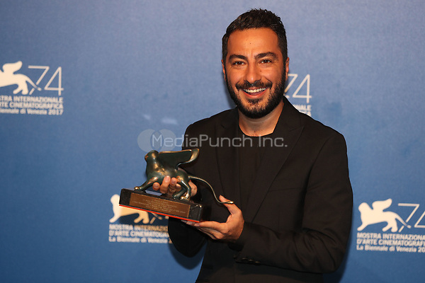 Navid Mohammadzadeh at the Award winners Photocall of the 74th Venice Film Festival at Sala Grande on September 9, 2017 in Venice, Italy.<br /> CAP/GOL<br /> &copy;GOL/Capital Pictures /MediaPunch ***NORTH AND SOUTH AMERICAS ONLY***