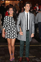 Russell Kane and girlfriend arriving for the I Can't Sing Press Night, at the Paladium, London. 26/03/2014 Picture by: Alexandra Glen / Featureflash