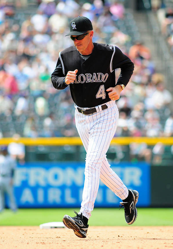 June 18, 2009: Rockies manager Jim Tracy during a game between the Tampa Bay Rays and the Colorado Rockies at Coors Field in Denver, Colorado. The Rockies beat the Rays 4-3.