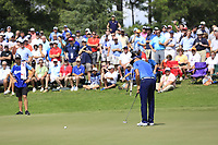 Rickie Fowler (USA) putts on the 2nd green during Friday's Round 2 of the 2017 PGA Championship held at Quail Hollow Golf Club, Charlotte, North Carolina, USA. 11th August 2017.<br /> Picture: Eoin Clarke | Golffile<br /> <br /> <br /> All photos usage must carry mandatory copyright credit (&copy; Golffile | Eoin Clarke)