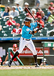 1 March 2019: Miami Marlins outfielder Magneuris Sierra in action during a Spring Training game against the Washington Nationals at Roger Dean Stadium in Jupiter, Florida. The Nationals defeated the Marlins 5-4 in Grapefruit League play. Mandatory Credit: Ed Wolfstein Photo *** RAW (NEF) Image File Available ***