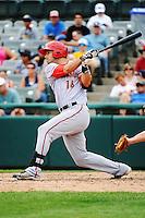 Harrisburg Senators infielder Jimmy Van Ostrand (16) during game against the Trenton Thunder at ARM & HAMMER Park on July 31, 2013 in Trenton, NJ.  Harrisburg defeated Trenton 5-3.  (Tomasso DeRosa/Four Seam Images)