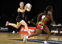 31.10.2013 Silver Fern Casey Kopua in action during the Silver Ferns V Malawi during the New World Netball Series played at the Claudelands Arena in Hamilton. Mandatory Photo Credit ©Michael Bradley.