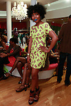 Saleswoman dressed in current Tracy Reese during the African Health Now - Fashion Fete event, at the Tracy Reese store on 641 Hudson Street, June 20, 2013.