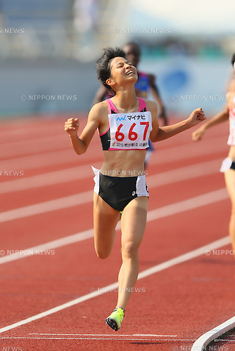Chika Mukai, JULY 30, 2015 - Athletics : 2015 All-Japan Inter High School Championships, Women's 1500m Final at Kimiidera Athletic Stadium, Wakayama, Japan. (Photo by YUTAKA/AFLO SPORT)