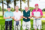 Dooks Captain Denis Guerin with his team at the Kerry Captains classic in Killarney Golf and Fishing club on Saturday l-r: Tom Foley, Fergus Foley, denis Guerin and Willie Murphy