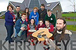 Rev Máirt Hanley and the Kingdom Music Academy musicians who will be holding a 12 hour music marathon to help raise funds for his parish and also the Killorglin KDYS in St Michael's church Killorglin on Saturday front row l-r: Liam Fleming, Kathlynn Coffey, Bridie O'Connor, Michael Griffin. Back row: Anne O'Connor KDYS, Pete Hill Beatz.ie, Steph Howard KDYS, Amy Kelly, Sean Treacey Kingdom Music Academy and Patrick Buckley.