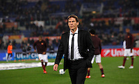 Calcio, Champions League: Gruppo E - Roma vs Bate Borisov. Roma, stadio Olimpico, 9 dicembre 2015.<br /> Roma's coach Rudi Garcia walks on the pitch prior to the start of the Champions League Group E football match between Roma and Bate Borisov at Rome's Olympic stadium, 9 December 2015.<br /> UPDATE IMAGES PRESS/Isabella Bonotto