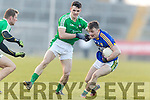 Tom O'Sullivan   Kerry in action against Paul White  Limerick in the Final of the McGrath Cup at the Gaelic Grounds on Sunday.